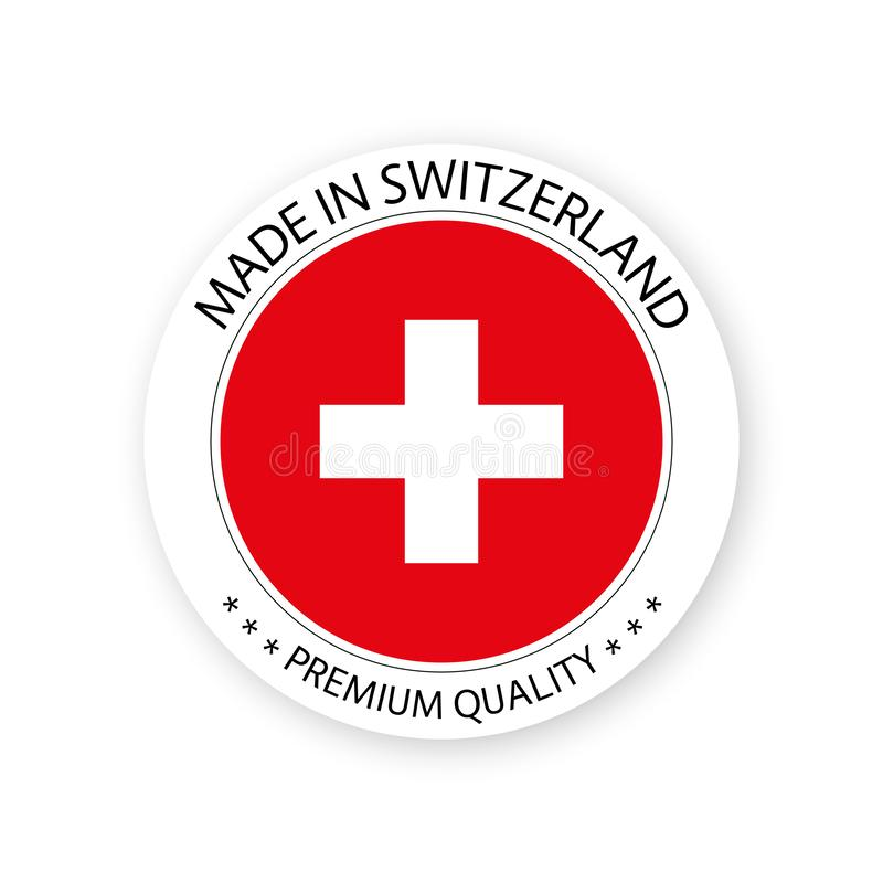 It is an image of Influential Made in Switzerland Label