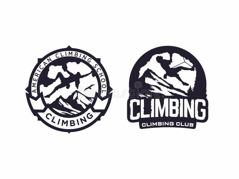 Modern vector professional logo emblem climbing club royalty free stock image