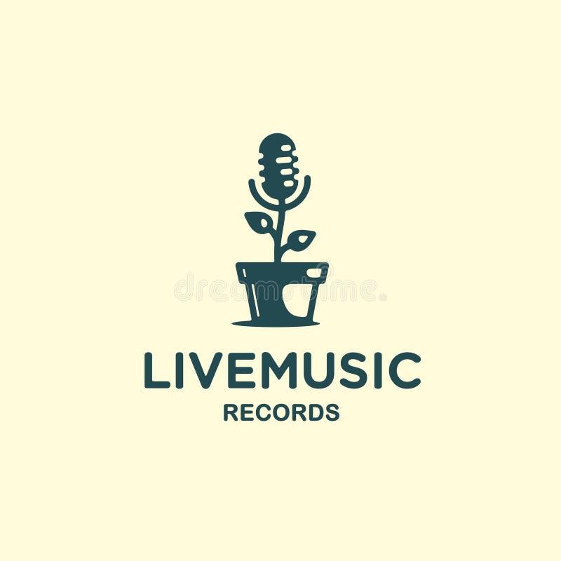 Modern vector professional sign logo live music royalty free illustration