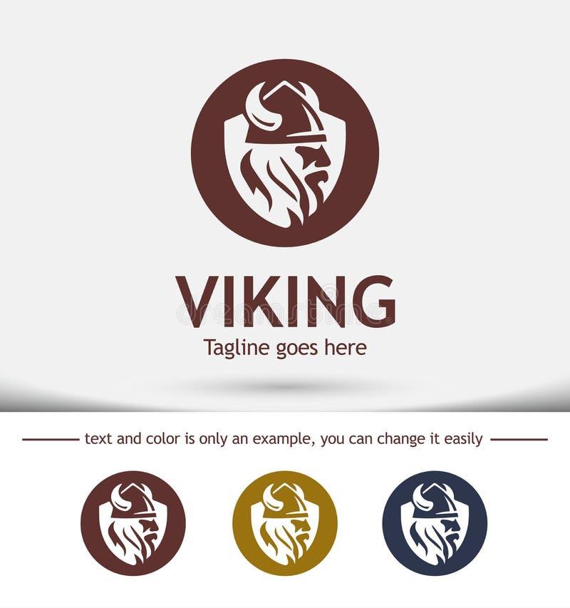 Modern vector professioneel tekenembleem Viking, Embleemontwerp stock foto's