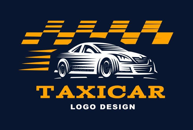 Modern vector taxi cab logo for company. Modern vector taxi cab logo. Logo for taxi company vector illustration