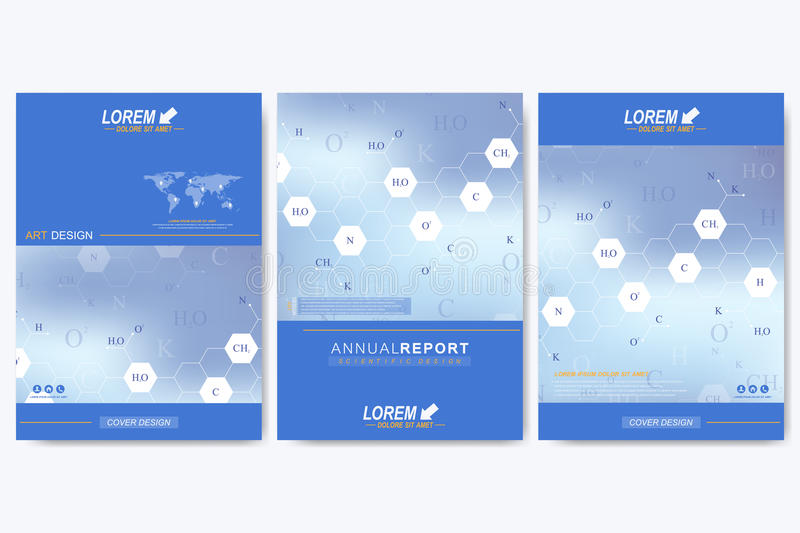 Modern vector template for brochure, Leaflet flyer, advert, cover, catalog, magazine or annual report. Business, science royalty free illustration