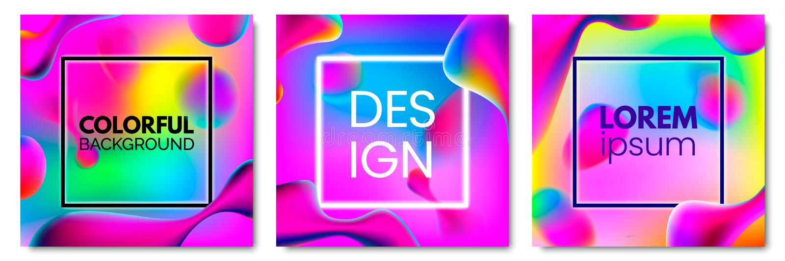 Modern vector template for brochure, leaflet, flyer, cover. Template for books, cards, banners, posters. Rainbow shades royalty free illustration