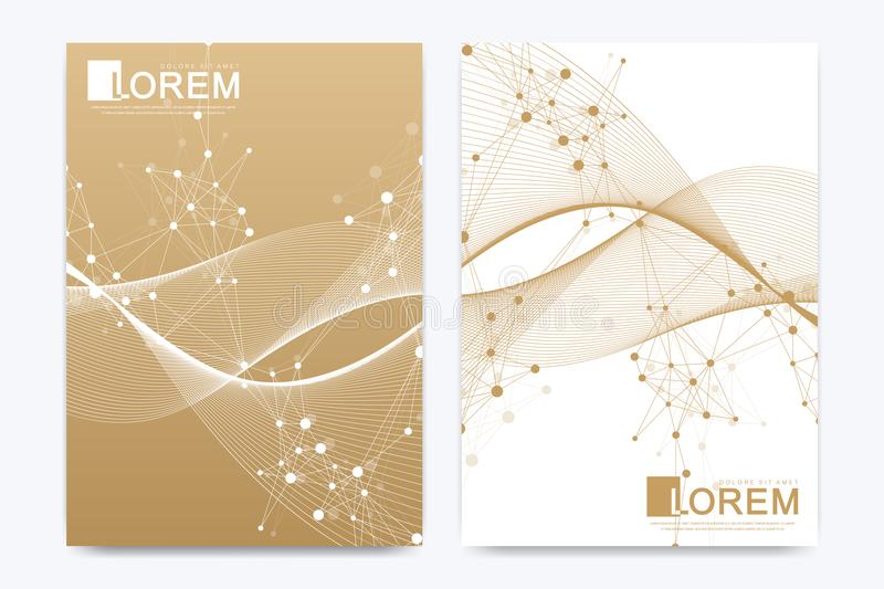 Modern vector template for brochure, leaflet, flyer, cover, catalog, magazine or annual report in A4 size. Business vector illustration