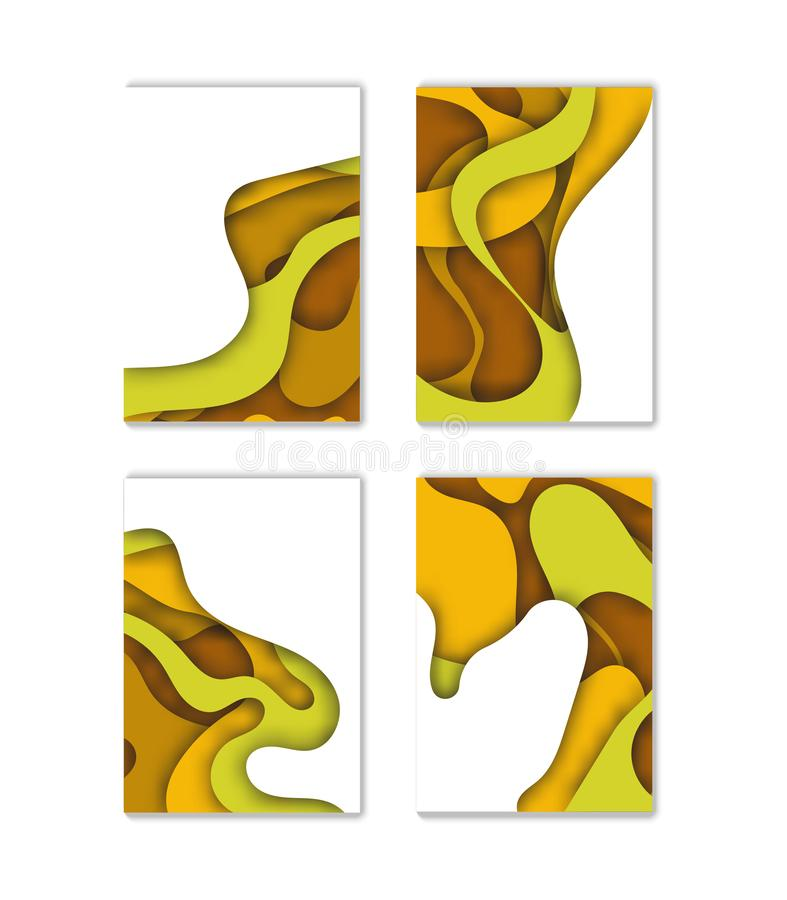 Modern vector template for brochure, leaflet, flyer, cover, catalog in A4 size. Abstract fluid 3d shapes vector trendy liquid colo vector illustration