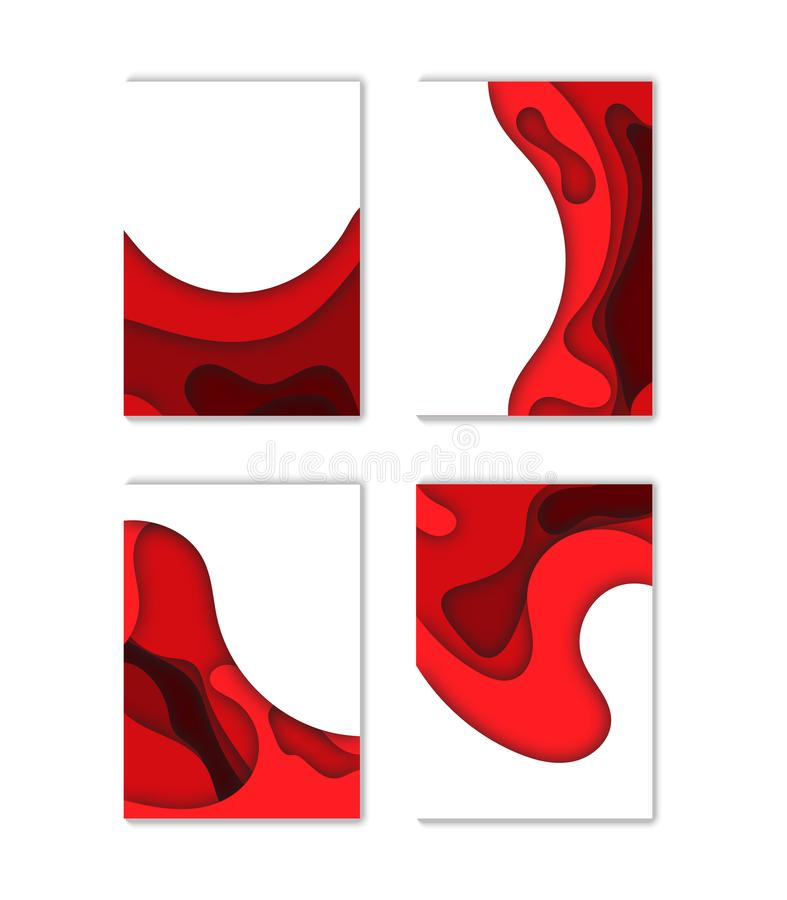 Modern vector template for brochure, leaflet, flyer, cover, catalog in A4 size. Abstract fluid 3d shapes vector trendy liquid colo. Modern vector template for vector illustration