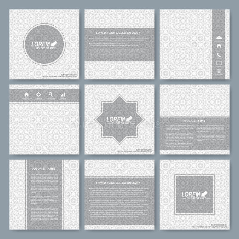 Modern Vector Templates For Square Brochure, Cover, Layout, Card Or ...