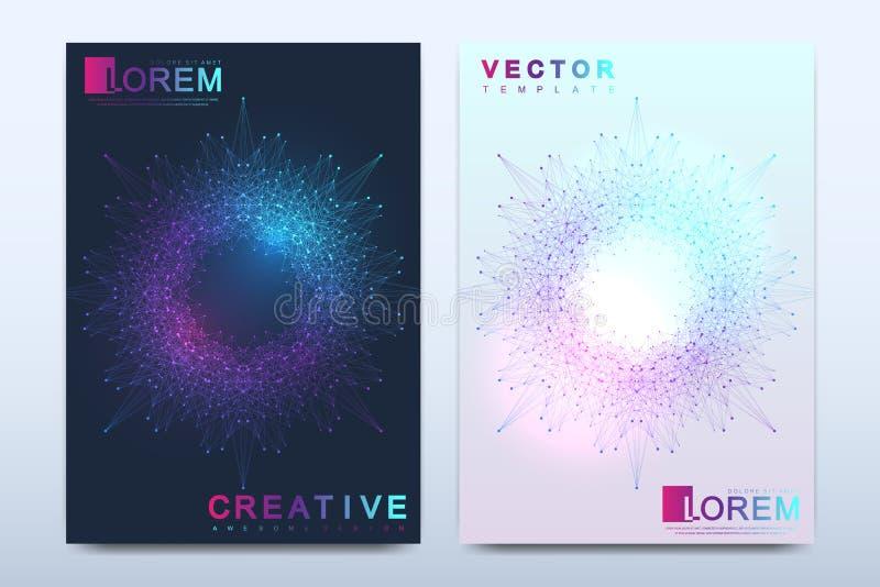 Modern vectormalplaatje voor brochure, pamflet, vlieger, dekking, catalogus, tijdschrift of jaarverslag in A4 grootte Zaken stock illustratie