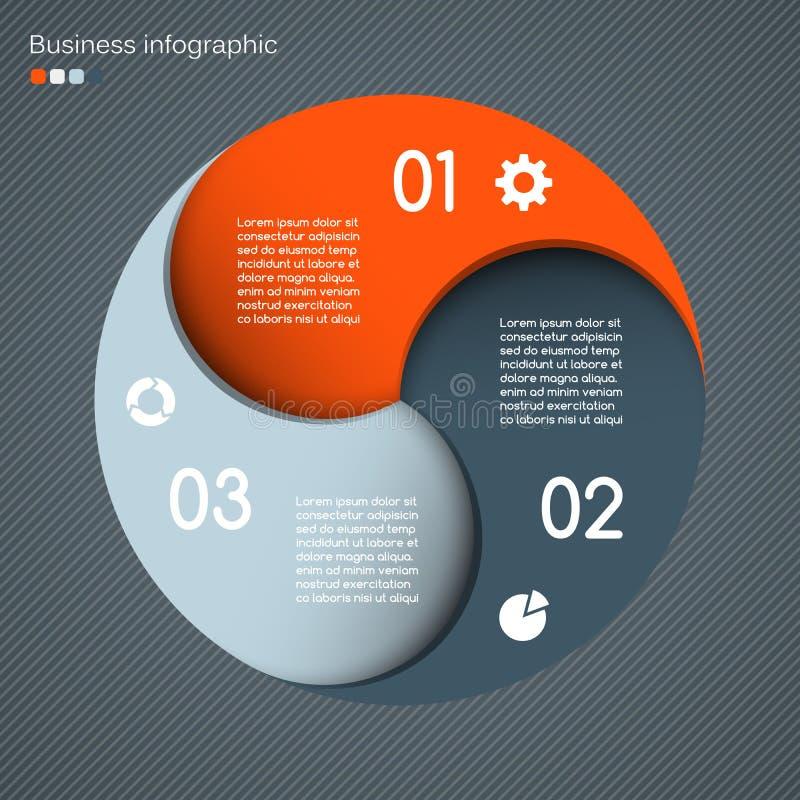 Modern vectormalplaatje voor uw bedrijfsproject royalty-vrije illustratie