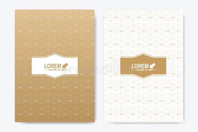Modern vectormalplaatje voor van de de vliegeradvertentie van het brochurepamflet de dekkingstijdschrift of jaarverslag A4 groott vector illustratie