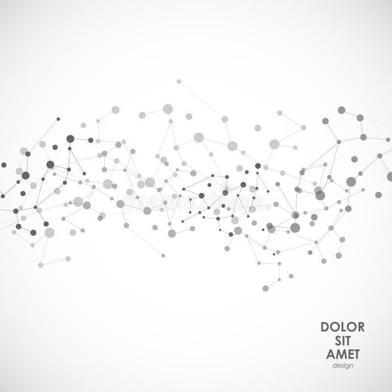 Modern vectorontwerp met elementen van moleculaire banden vector illustratie