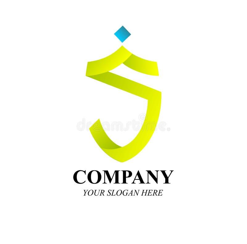Modern vektor för S Märka Företag logo royaltyfri illustrationer