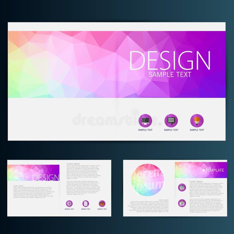 Modern vektorabstrakt begreppbroschyr, rapport eller reklambladdesignmall royaltyfri illustrationer