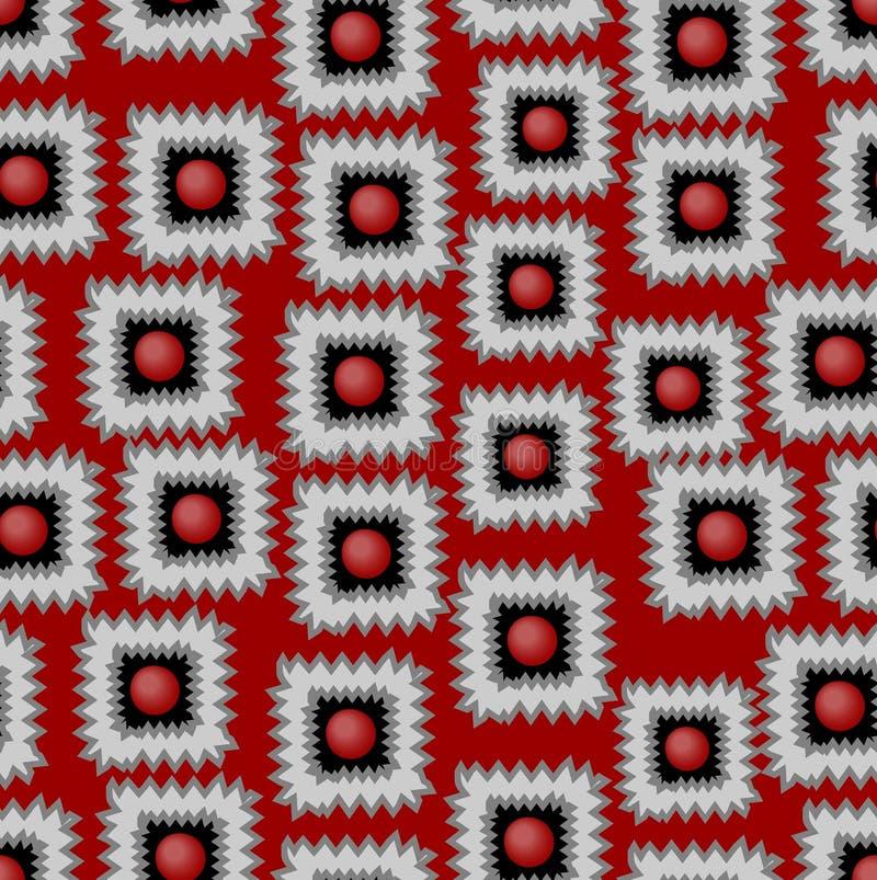 Modern vektorbakgrund med sandiga fyrkantmodeller i rött, grått och svart vektor illustrationer