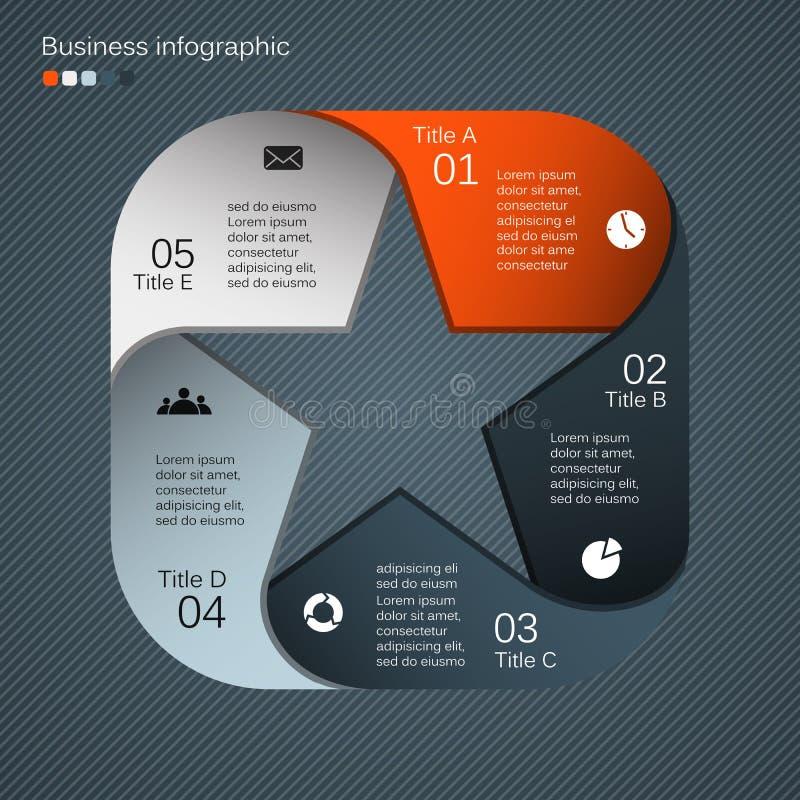 Modern vektormall för ditt affärsprojekt stock illustrationer