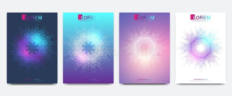Modern vektormall f?r broschyr, broschyr, reklamblad, r?kning, baner, katalog, tidskrift eller ?rsrapport i formatet A4 royaltyfri illustrationer