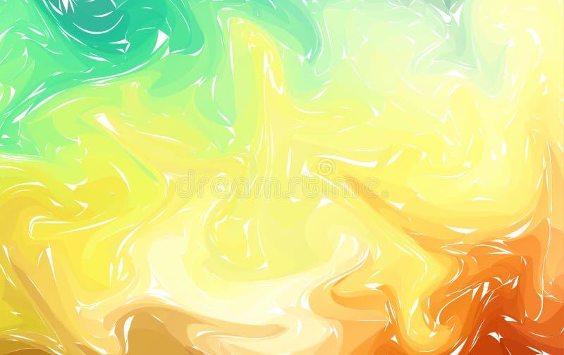 Modern vektormarmorbakgrund, bakgrund för abstrakt begrepp för textur för vektorfärgpulvermarmor Suminagashi som marmorerar tekni royaltyfri illustrationer