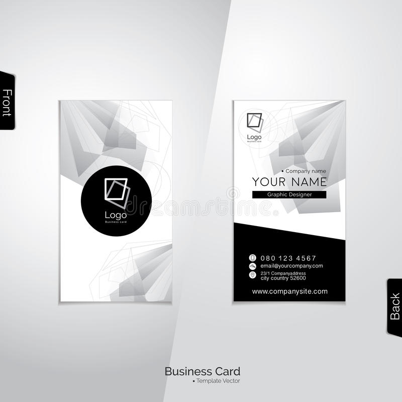 Modern vertical black and white business card vector template download modern vertical black and white business card vector template stock vector illustration of white reheart