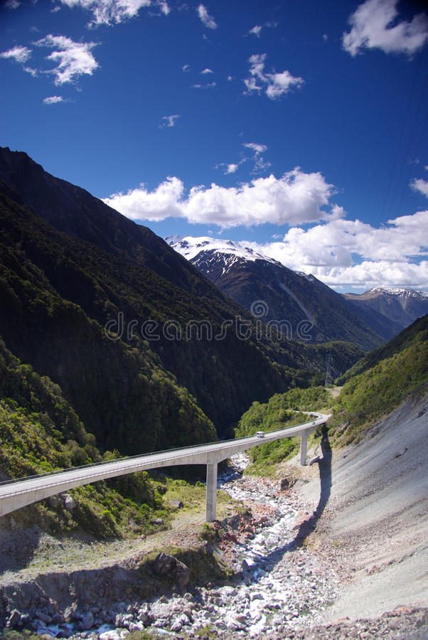 Free Modern Viaduct In Mountains Stock Photography - 22675042