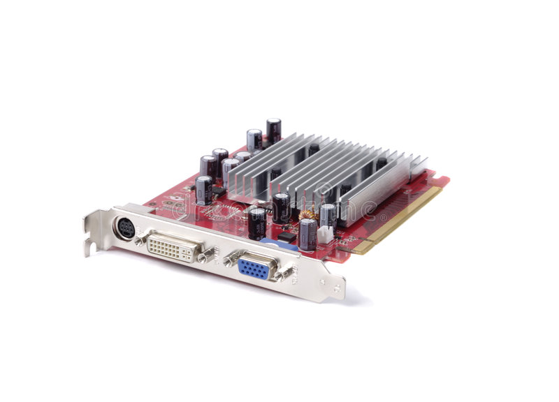 Download Modern Video Card stock image. Image of close, chip, electrical - 2318543
