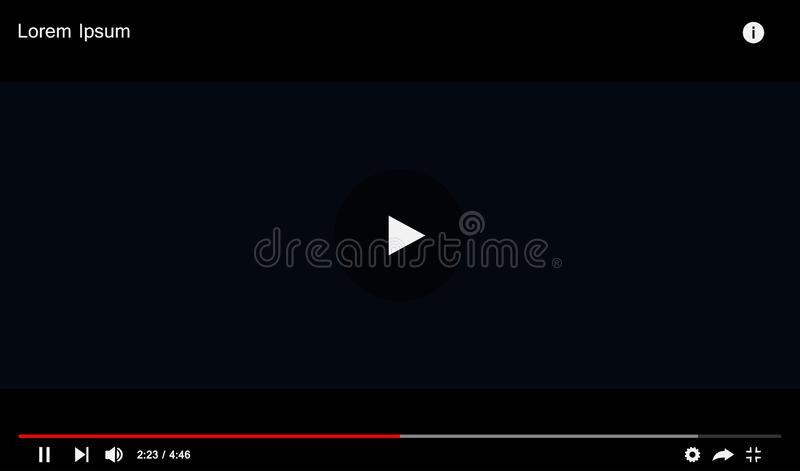 Modern video player design template for web and mobile apps royalty free illustration