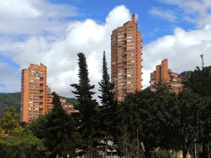 Modern view of Bogota, Colombia. stock photos