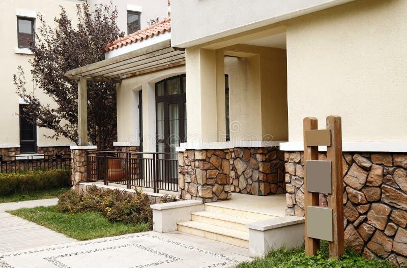 Download Modern villa doorway. stock photo. Image of driveway - 11716238