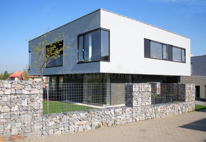 Modern villa. Just finished modern villa, Czech republic royalty free stock photo
