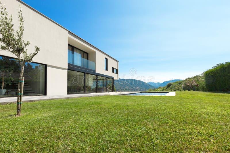 Modern Villa, View Garden Stock Photography