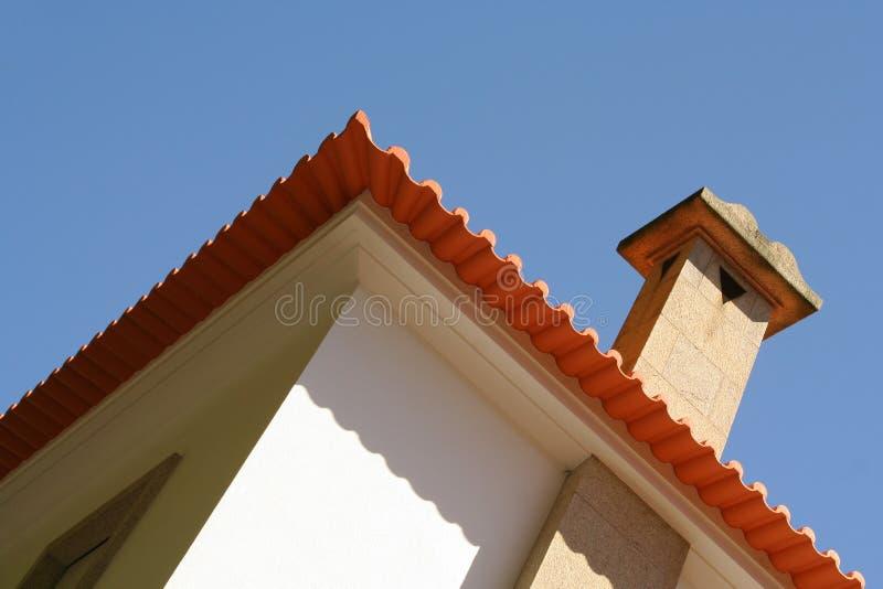 Modern villaperspectief stock afbeelding