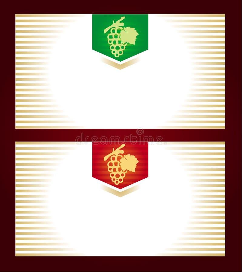 modern vine för etikett royaltyfri illustrationer