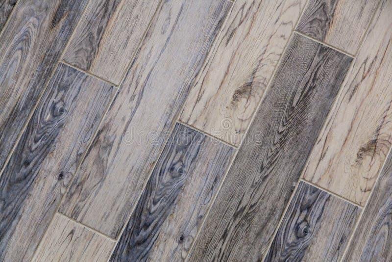 Modern vinyl floor with old wood imitation. royalty free stock photos