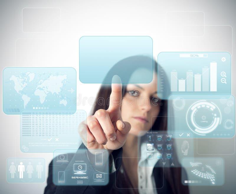 Modern virtual screen royalty free stock photography