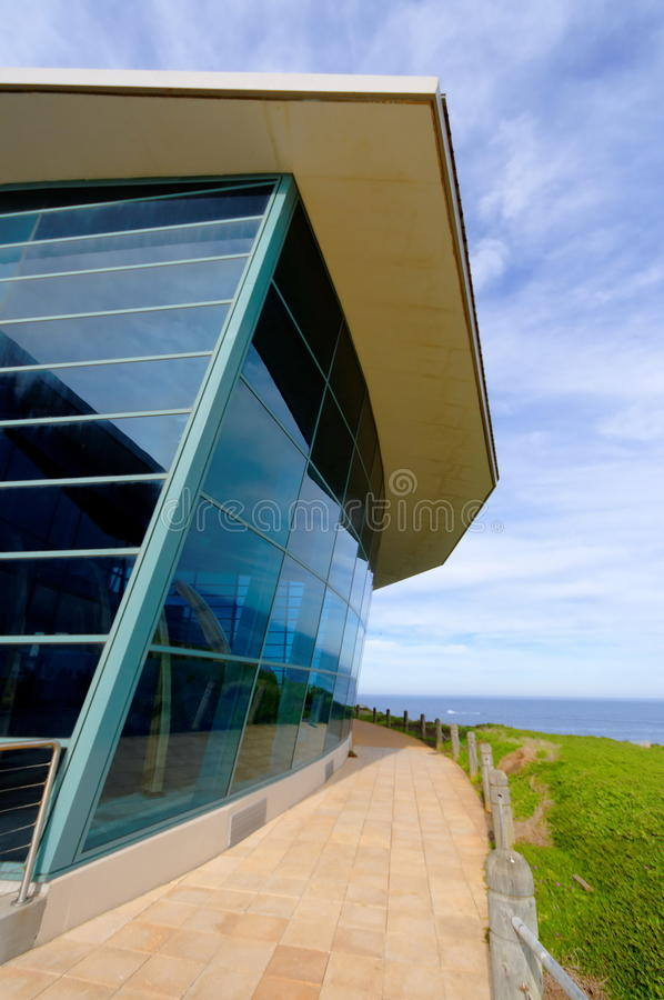 Modern visitor center royalty free stock photography