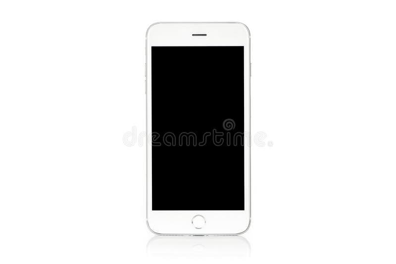 Modern vit smartphone arkivfoton