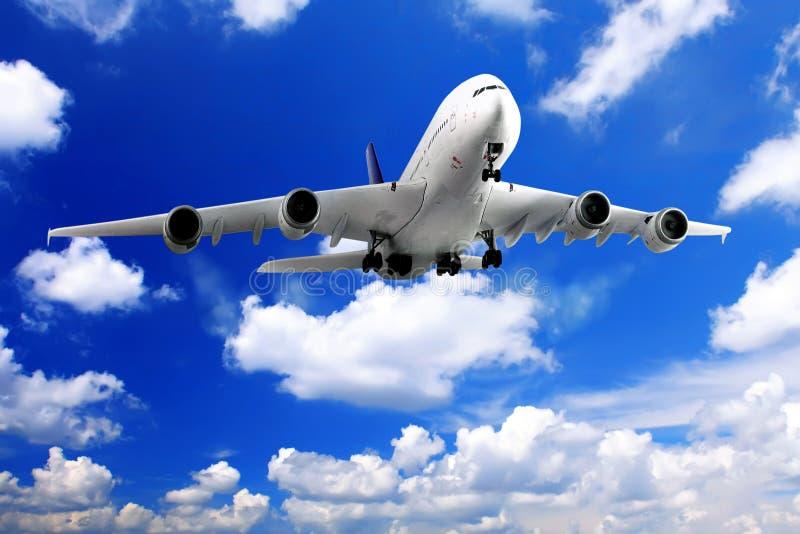 Modern vliegtuig stock afbeeldingen