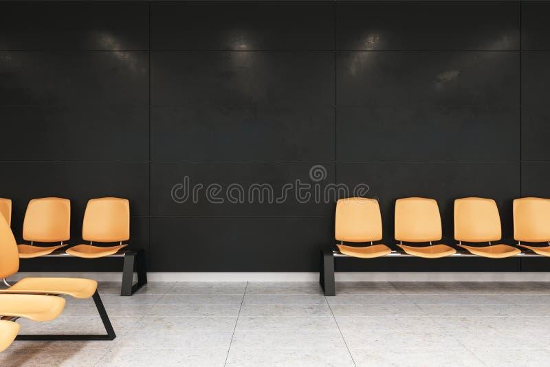 Modern waiting area hall royalty free illustration