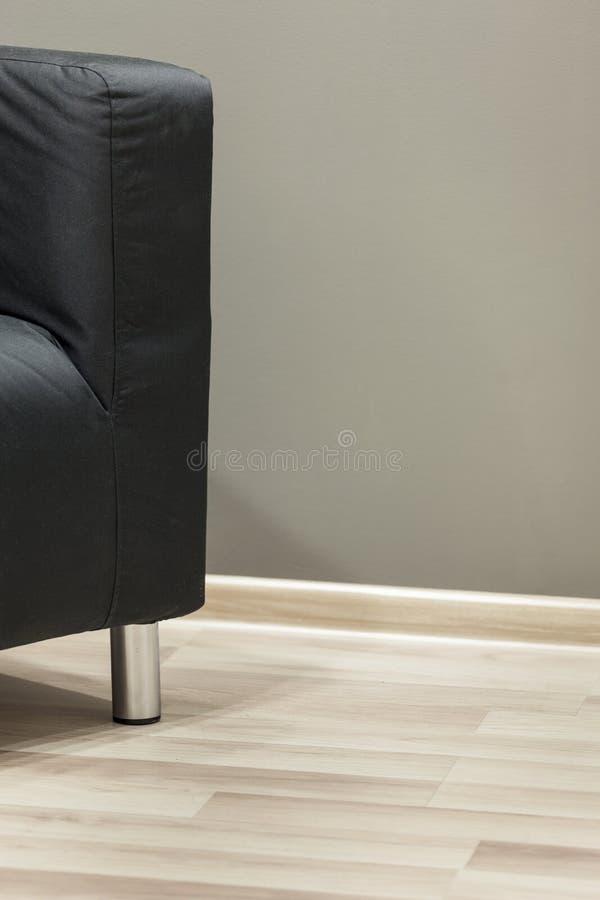 Modern Waiting Room : Black sofa. Conceptual Shot: Modern Waiting Room royalty free stock photos
