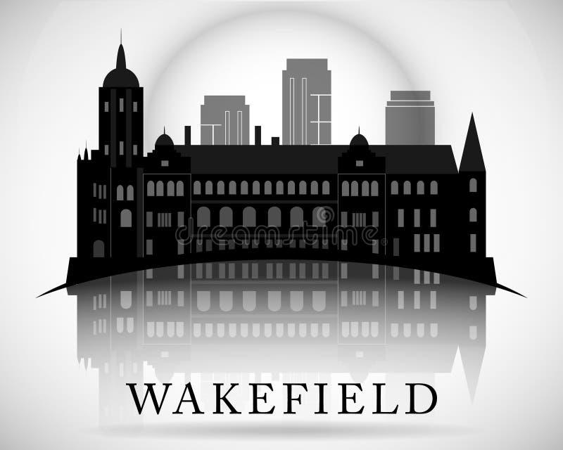 Modern Wakefield City Skyline Design. England. Modern Wakefield City Skyline Design vector illustration