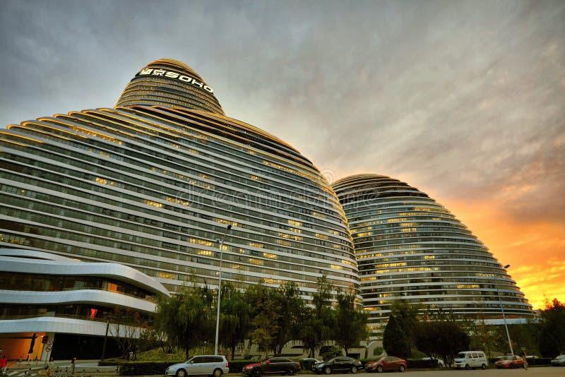 Wangjing SOHO, Beijing. The modern Wangjing SOHO building in Beijing, China royalty free stock images