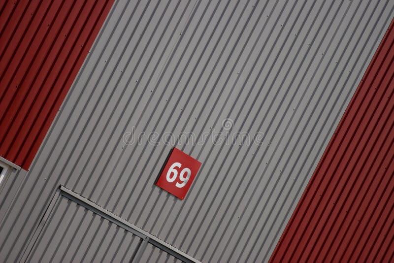 Modern warehouse. Wall of a modern warehouse royalty free stock image