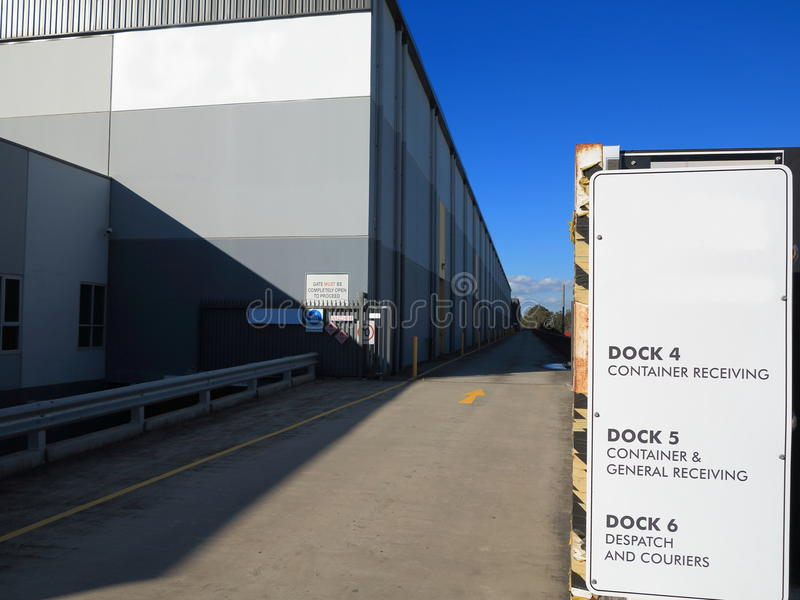 Download Modern warehouse driveway stock photo. Image of production - 25206872