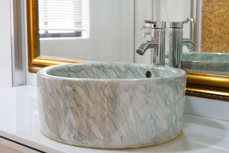 The modern washroom interior royalty free stock photography