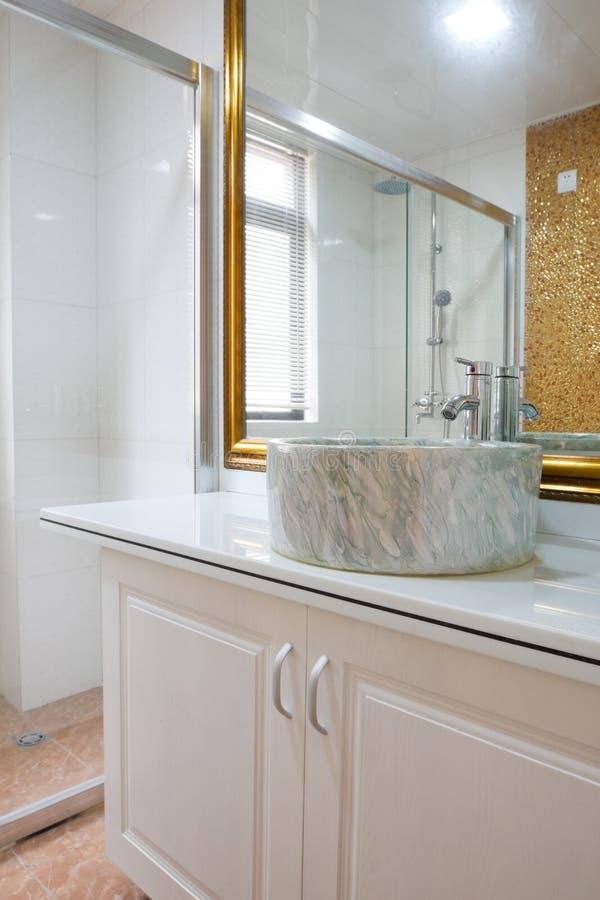 The modern washroom interior stock images