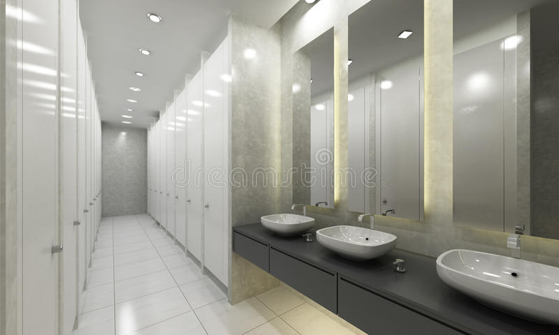 modern washroom and toilets stock image image of. Black Bedroom Furniture Sets. Home Design Ideas