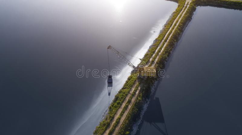 Modern wastewater treatment plant. Tanks for aeration and biological purification of sewage royalty free stock image