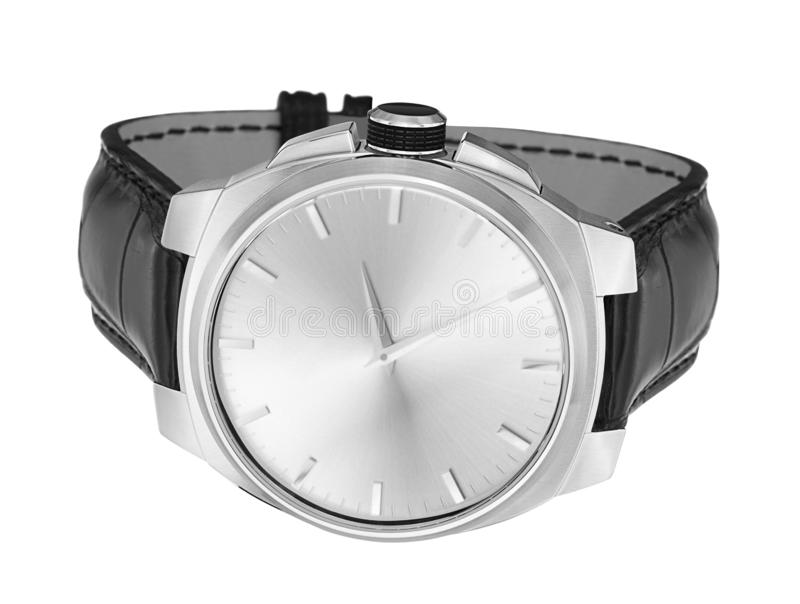 Modern watch isolated on a white royalty free stock images
