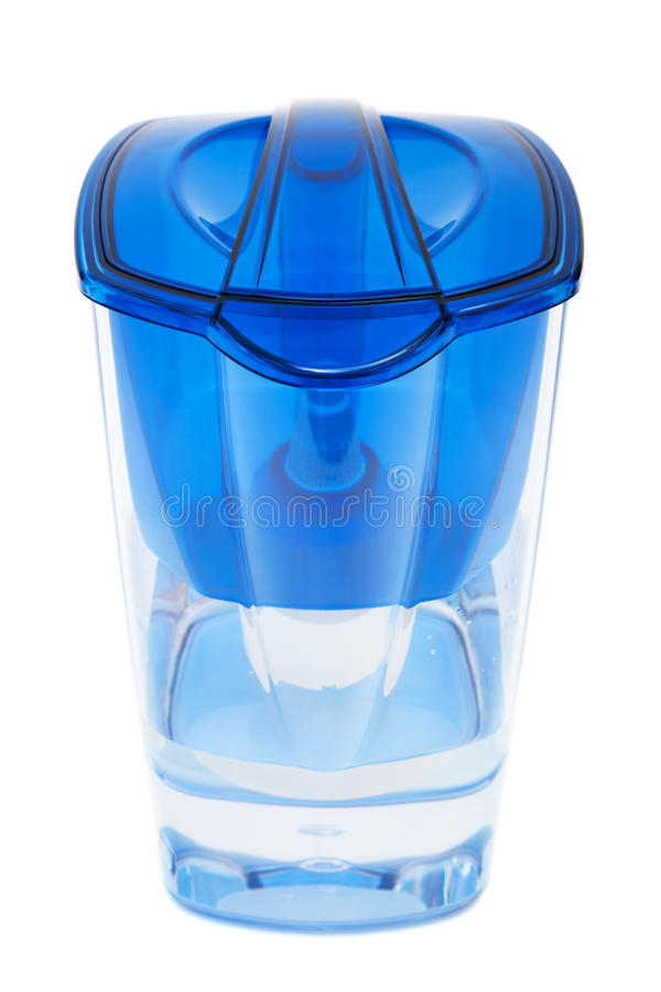 Modern water filter. On a white background stock photos
