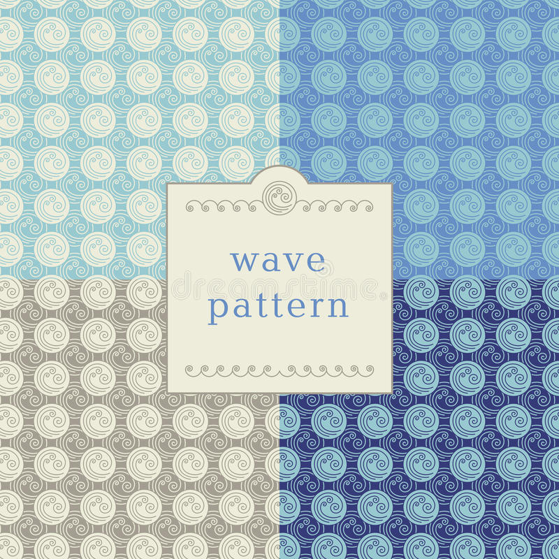 Modern wave pattern stock illustration
