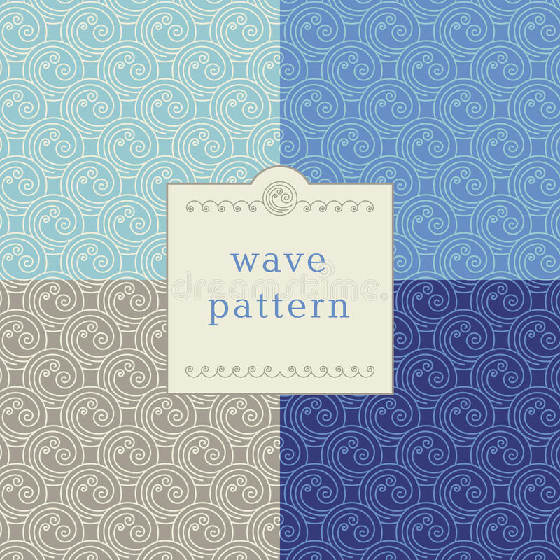 Modern wave pattern royalty free stock photos